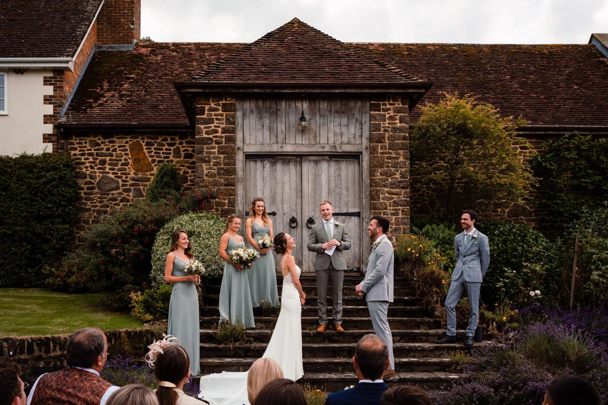 dorset wedding photography ceremony
