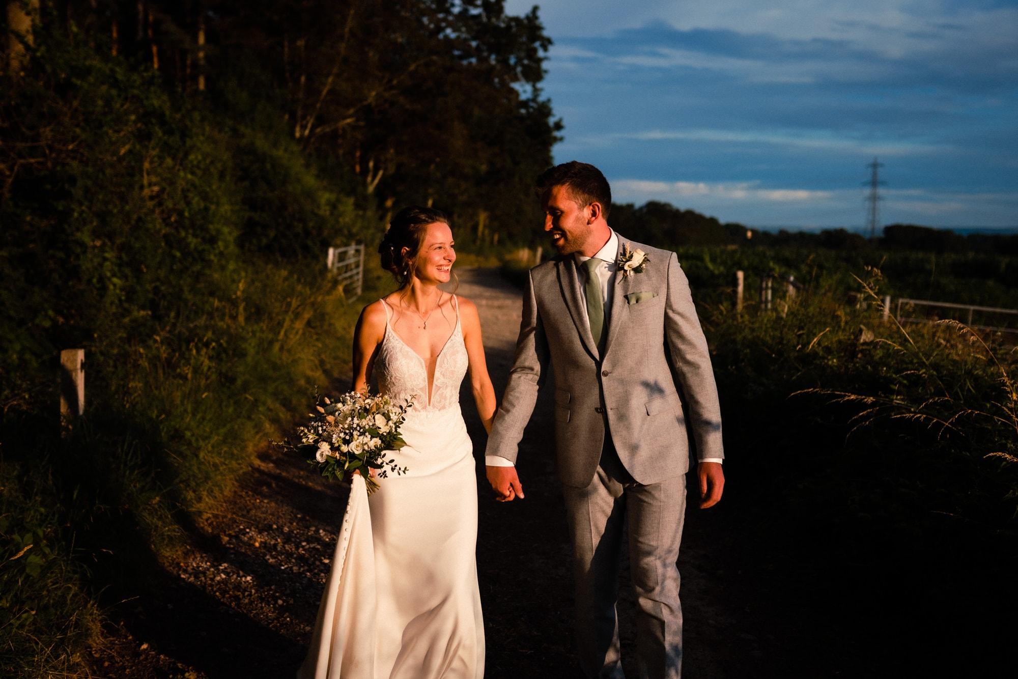 dorset wedding photography sunset