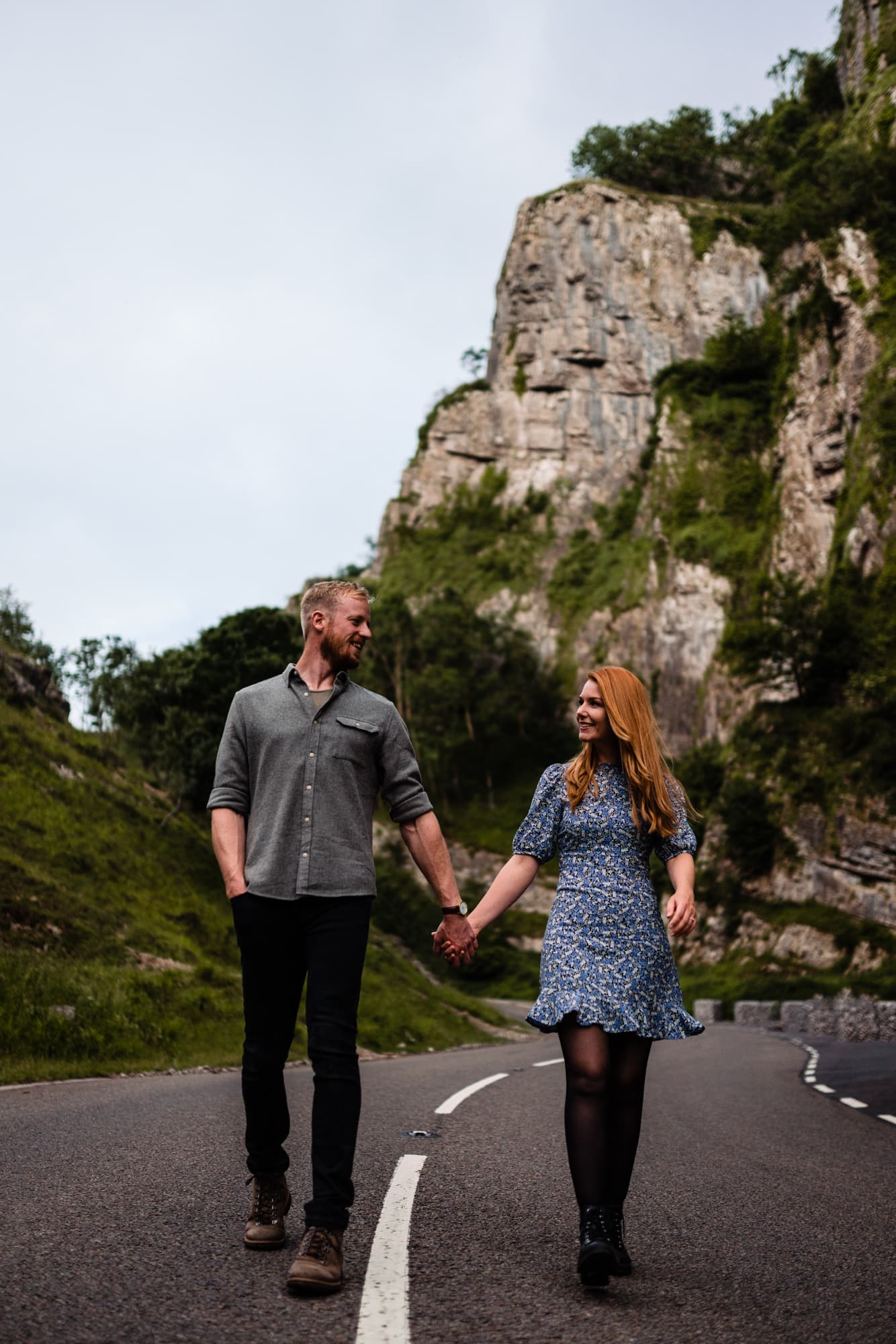 fun loving couple at cheddar gorge
