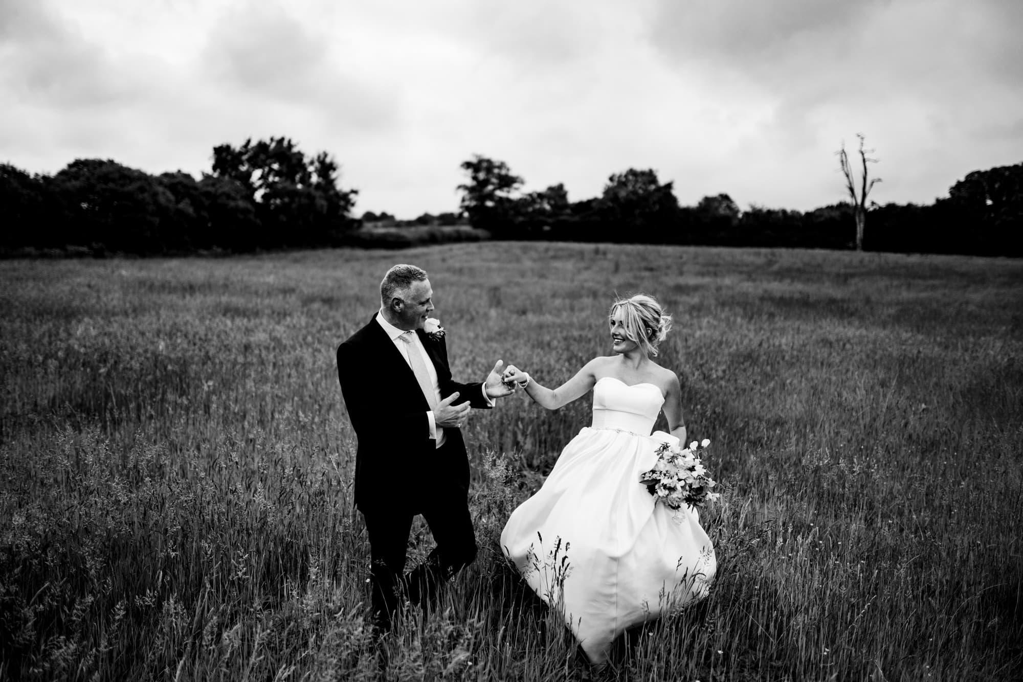 field wedding photography