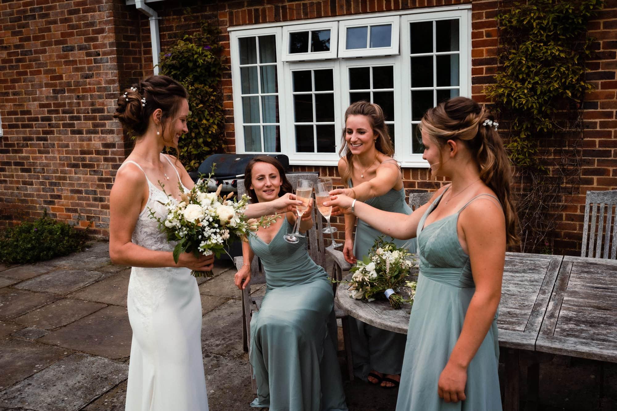 dorset wedding photography bridesmaids