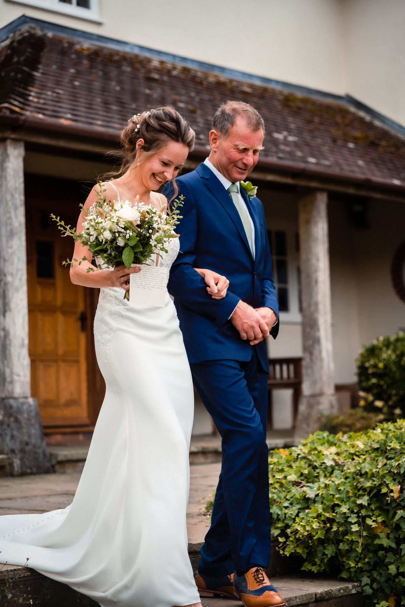 dorset wedding photography father of the bride