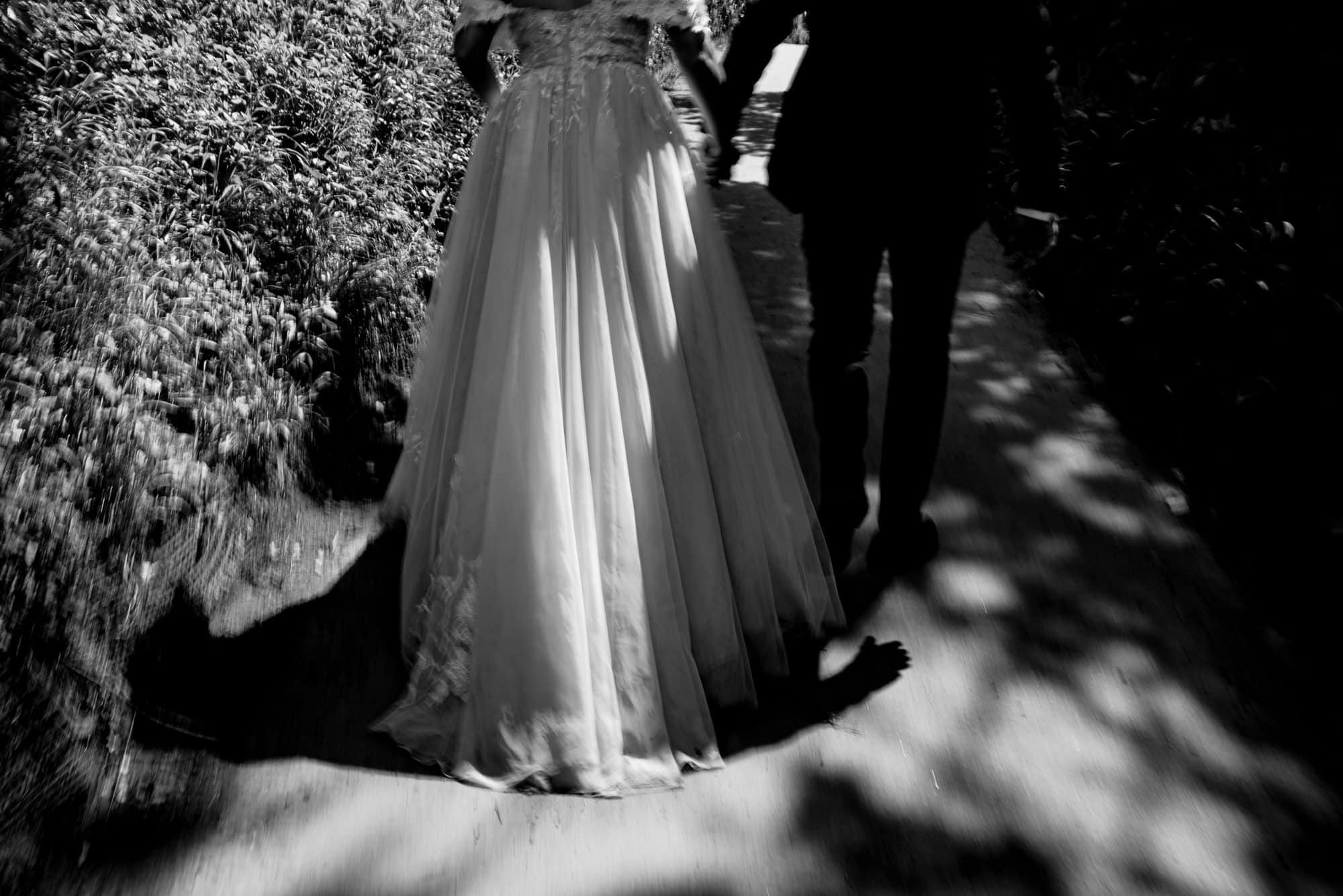 wedding dress in nature