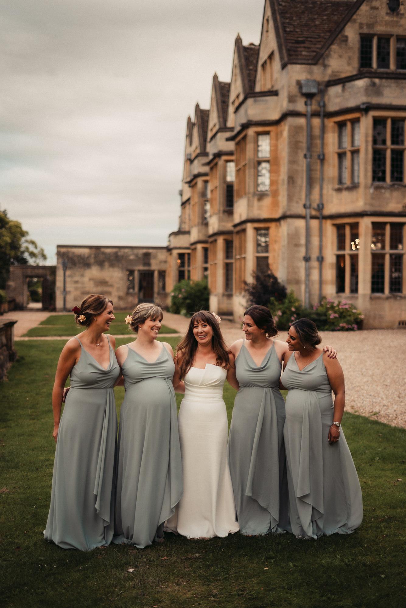 bridesmaids at coombe lodge