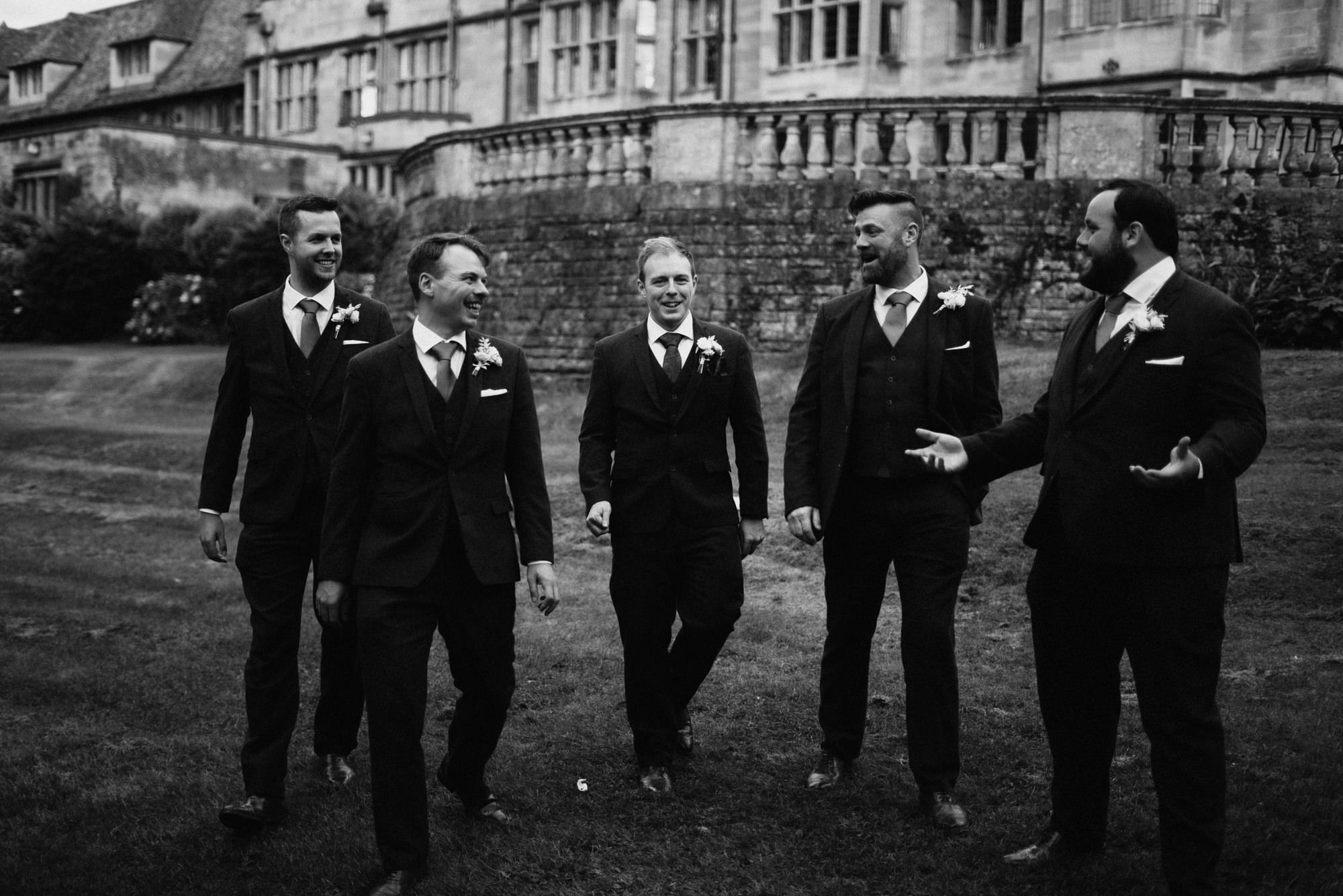 groomsmen at coombe lodge
