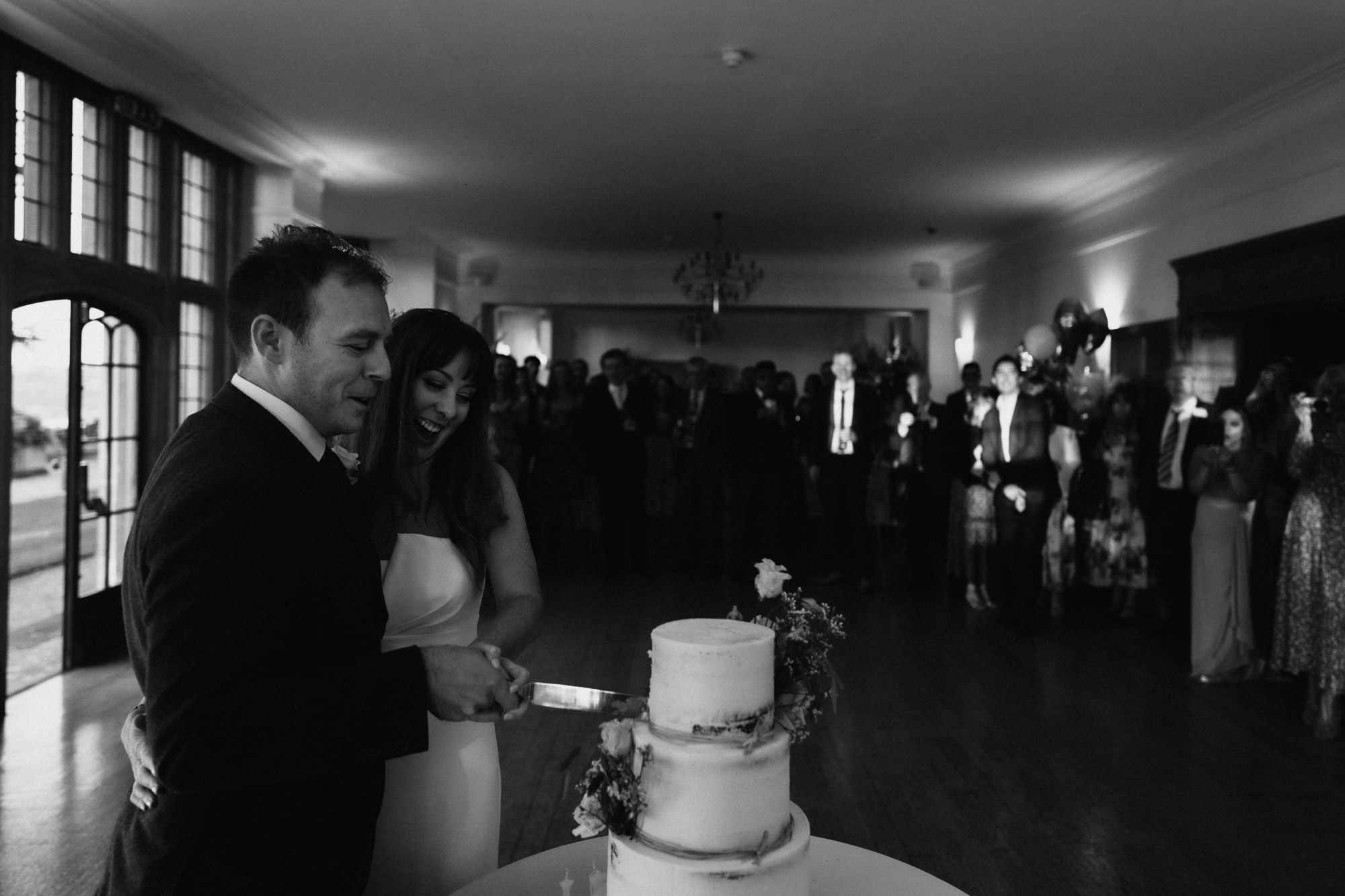 cake cutting at coombe lodge