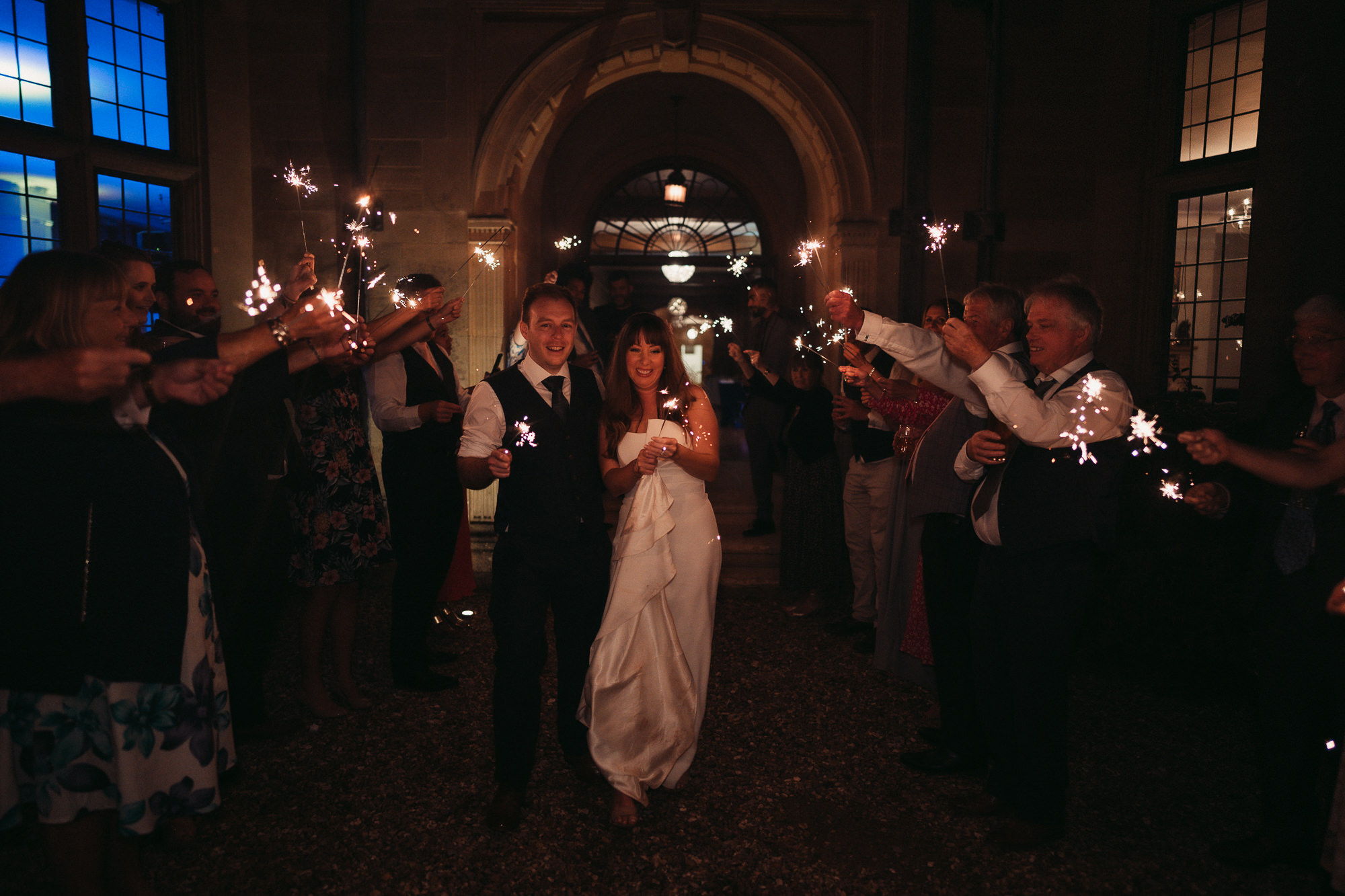 sparkler exit at coombe lodge