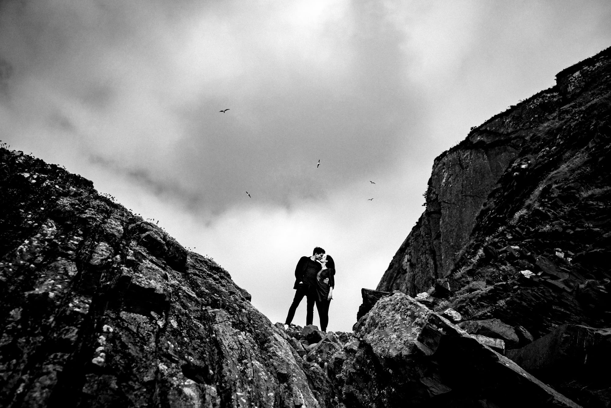 Devon engagment photography cathedral rock