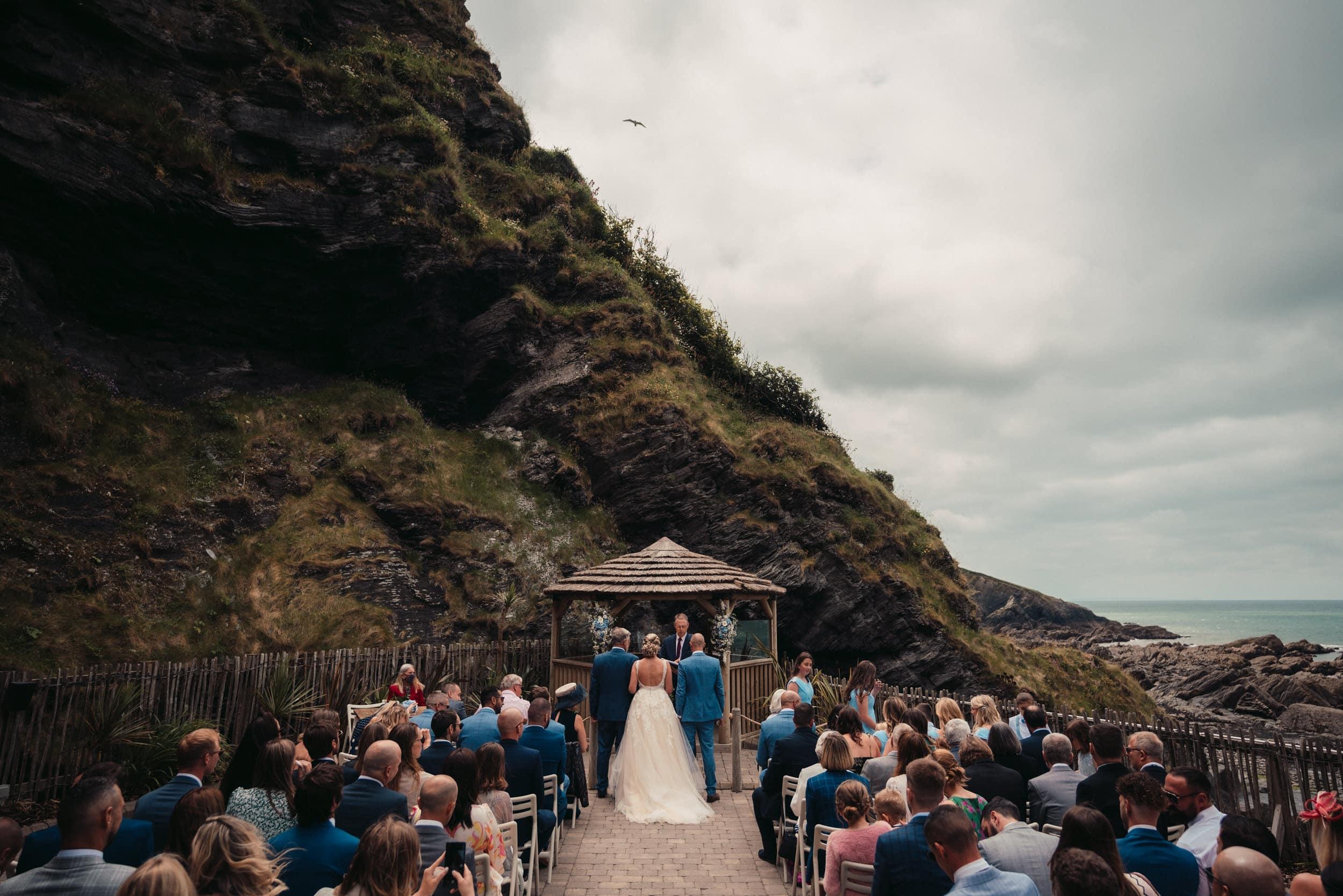 coastal ceremony taking place in devon