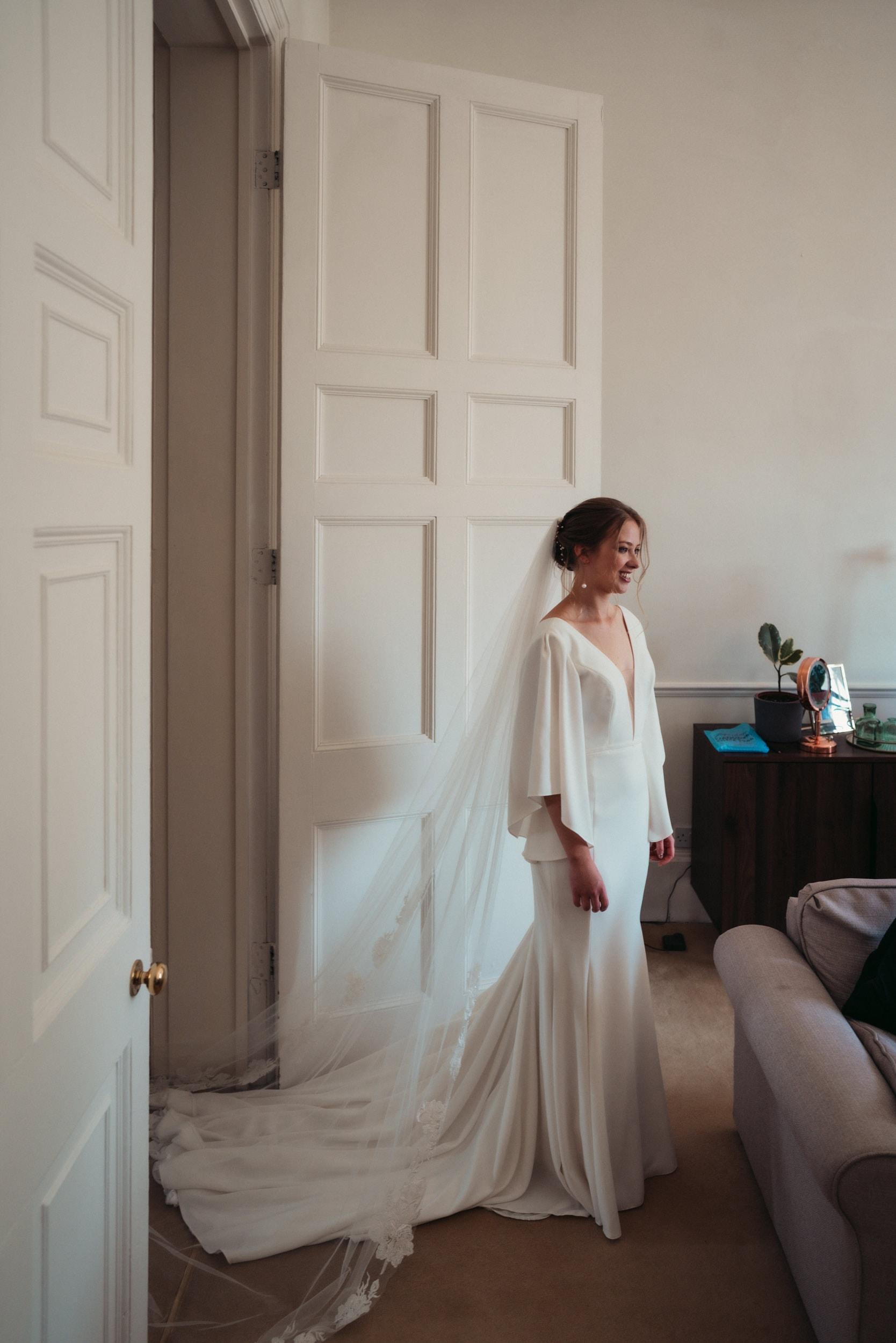 bride in bath flat